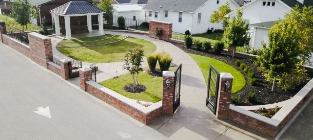 Women's Honor Court Landscaped Entrance